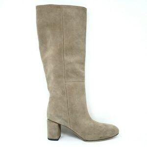 Via Spiga Nigel Knee High Boots Clay Suede
